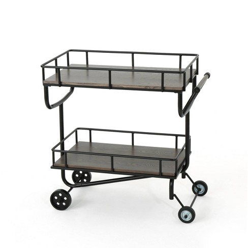 Lavinia Industrial Iron Bar Cart - Christopher Knight Home - image 1 of 4