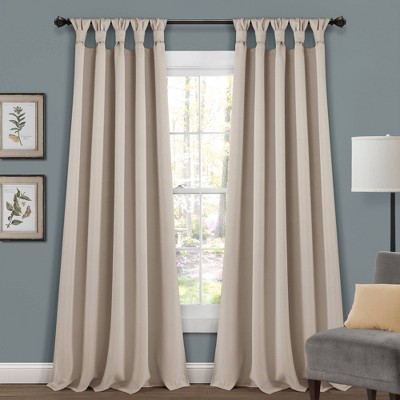 Insulated KnottedTab Top Blackout Window Curtain Panels - Lush Décor