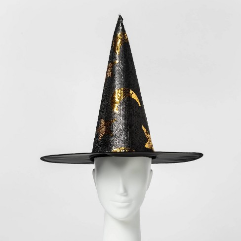 Adult Witch Hat Halloween Costume Accessory Black/Silver - Hyde & EEK! Boutique™ - image 1 of 4