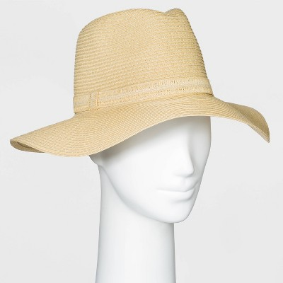Women's Packable Essential Straw Fedora Hat - A New Day™ One Size Natural