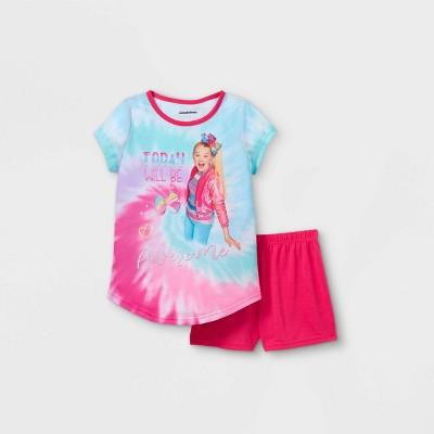 Girls' JoJo Siwa 'Today Will Be Awesome' 2pc Pajama Set - Blue/Pink