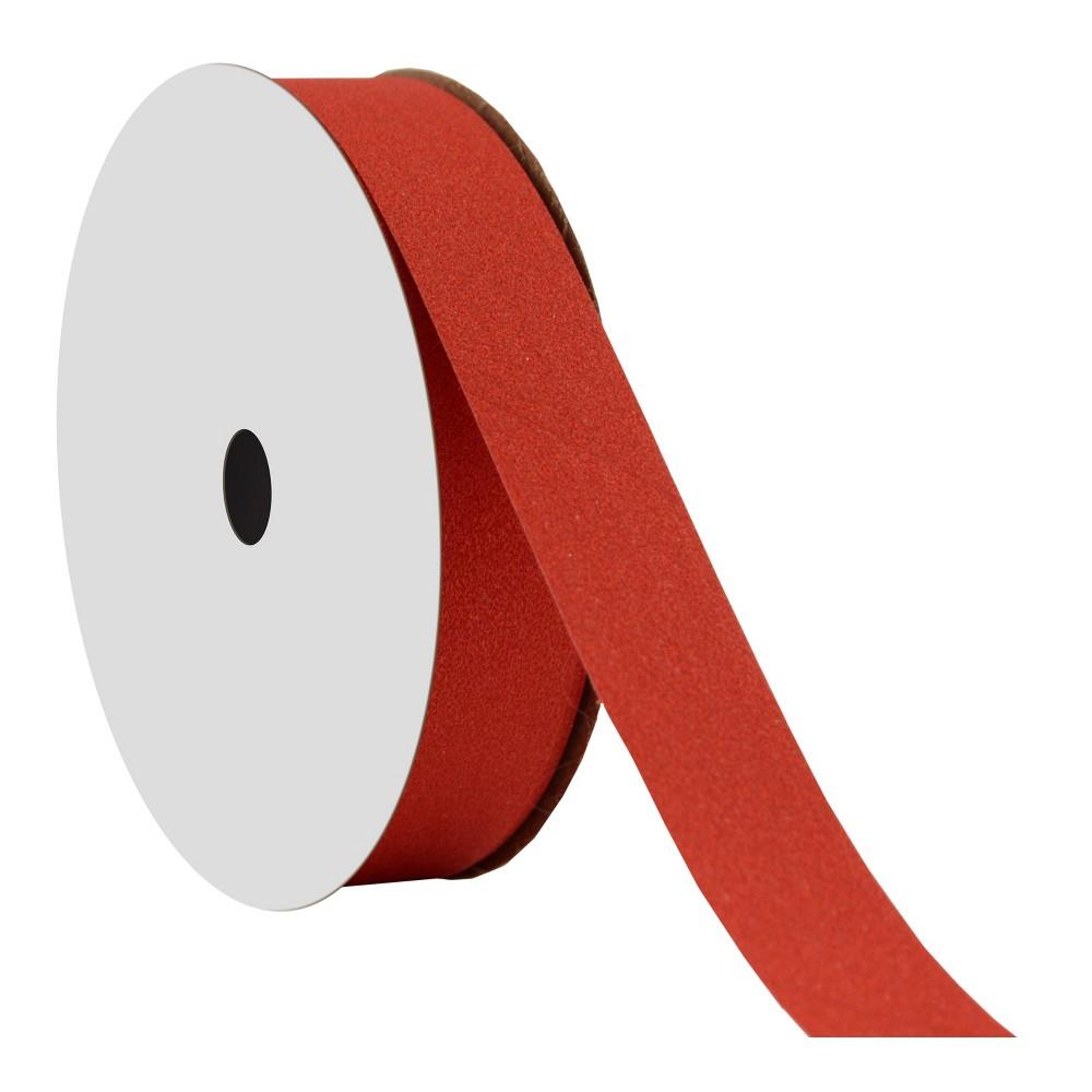 .69 Red Glitter Ribbon 20ft - Wondershop