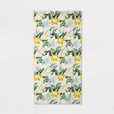 Hilo Floral Beach Towel Yellow/Green - Opalhouse™