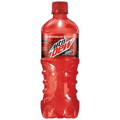 Mountain Dew Code Red Soda - 20 fl oz Bottle
