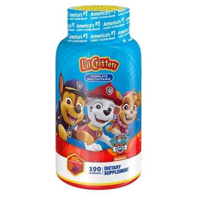 Lil Critters Paw Patrol Multivitamin Dietary Supplements - 190ct