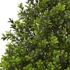 Boxwood Artificial Plant In Stone Planter - Nearly Natural - image 2 of 3