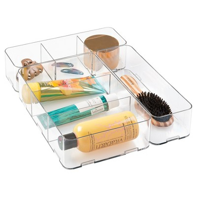 3pc Drawer Plastic Organizers Clear - InterDesign