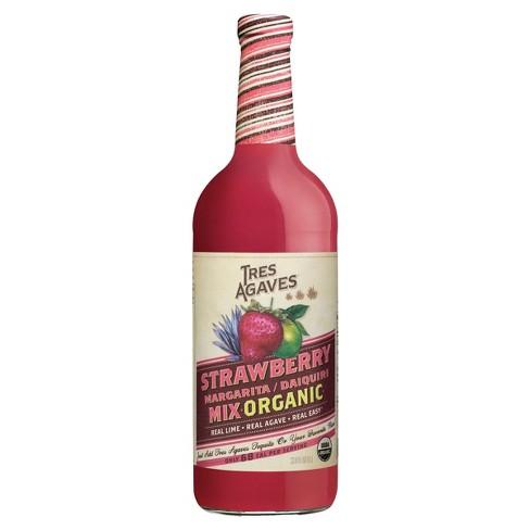 Tres Agaves Organic Strawberry Margarita Mix - 1L Bottle - image 1 of 4