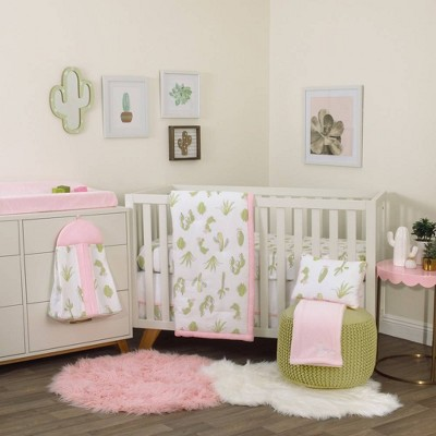 NoJo Dreamer Cactus Nursery Crib Bedding Set - 8pc