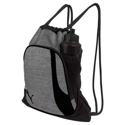 Puma Squad Drawstring Bag - Heather Gray - image 1 of 3