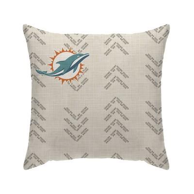 NFL Miami Dolphins Wordmark Decorative Throw Pillow