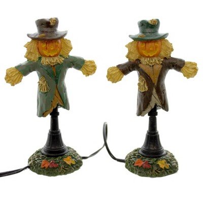 Dept 56 Accessories Lit Scarecrow Lamps Halloween Accessory  -  Decorative Figurines