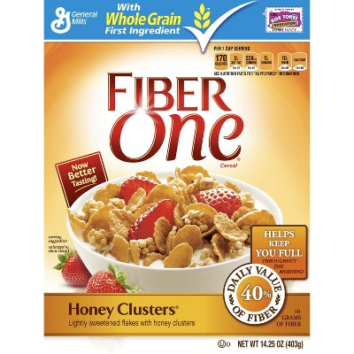 Fiber One Honey Clusters Breakfast Cereal - 14.25oz - General Mills