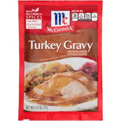 McCormick Turkey Gravy Dry Mix .87oz