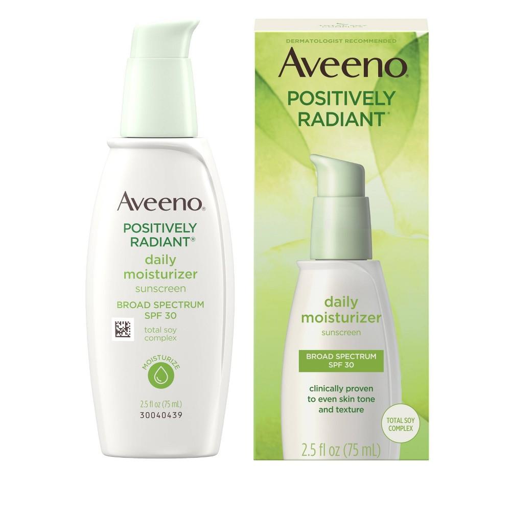 Aveeno Positively Radiant Daily Moisturizer With Soy 2 5 Fl Oz Spf 30