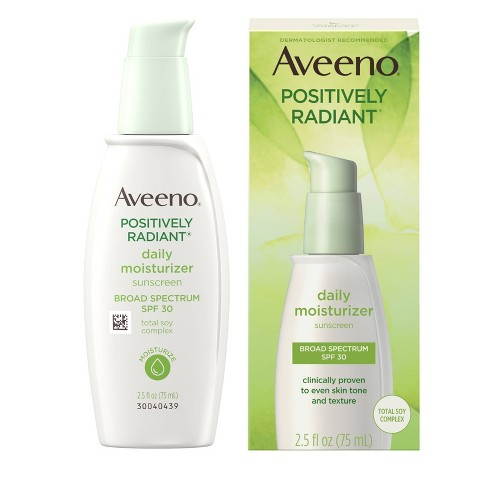 Aveeno Positively Radiant Daily Moisturizer With Soy - 2.5 fl oz