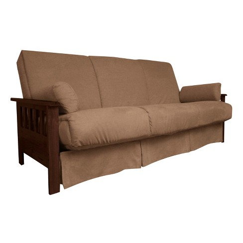 Awesome Mission Perfect Convertible Futon Sofa Sleeper Walnut Wood Finish Sit N Sleep Squirreltailoven Fun Painted Chair Ideas Images Squirreltailovenorg