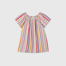 Girls' Short Sleeve Printed Woven Top - Cat & Jack™