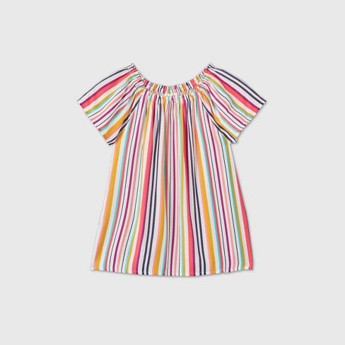 Girls' Short Sleeve Printed Woven Top - Cat & Jack™ - image 1 of 2