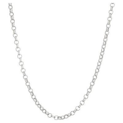 Tiara Sterling Silver Rolo Chain Necklace
