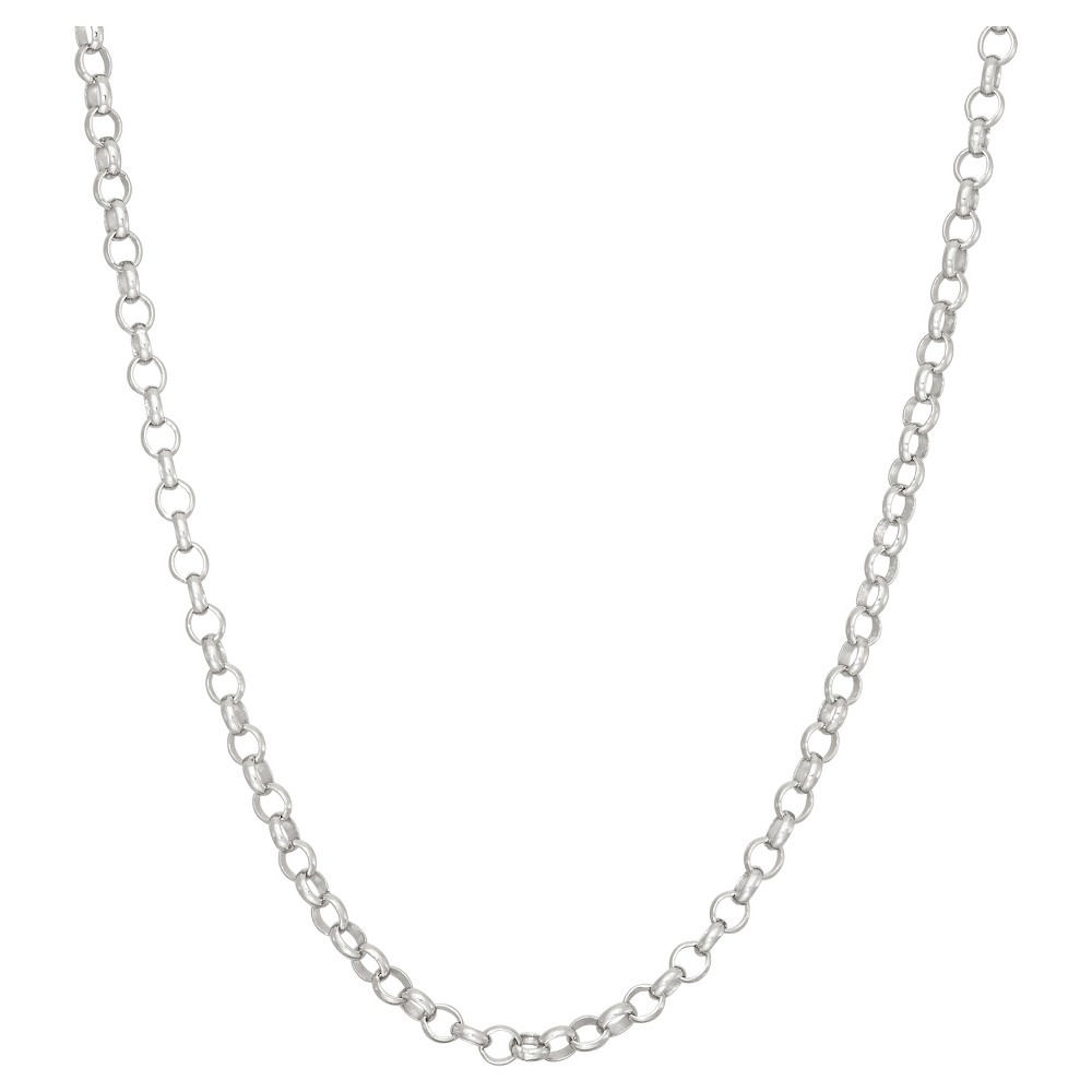 Tiara Sterling Silver 24 Rolo Chain Necklace, Size: 24 inch, White