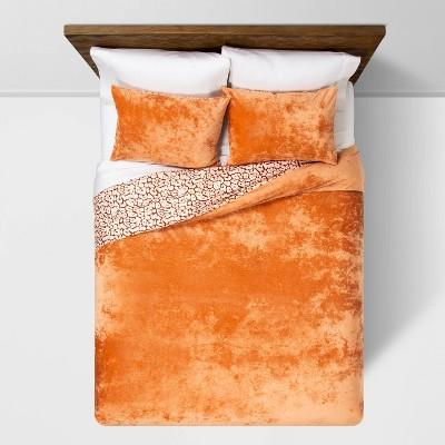 K Rust Reversible Velvet Leopard Print Duvet & Sham Set - Opalhouse™