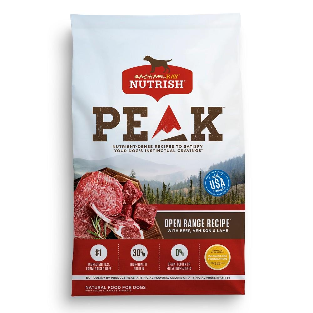 Rachael Ray Nutrish Peak Natural Dry Dog Food, Open Range Recipe with Beef, Venison & Lamb - 23lb