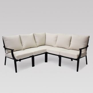 Fairmont 5 pc Patio Sectional Charcoal - Threshold™