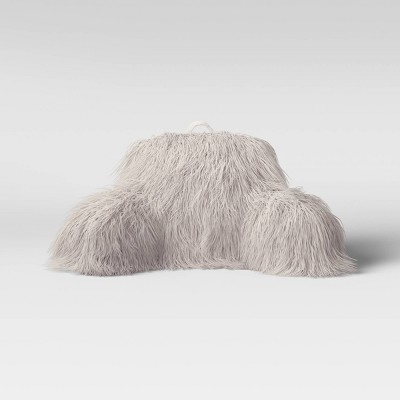 Faux Fur Bed Rest Pillow Gray - Opalhouse™