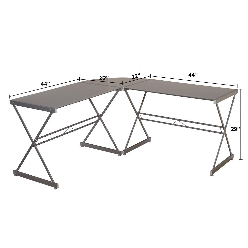 Alex L - Shape Desk - Gray - Buylateral