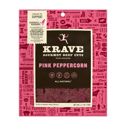 Krave Jerky Pink Peppercorn Beef - 2.7oz - image 1 of 4