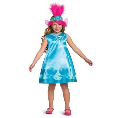 Kids' Deluxe Trolls Poppy Halloween Costume Dress