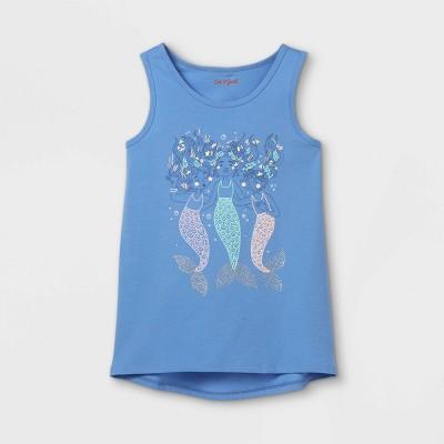 Girls' Mermaids Graphic Tank Top - Cat & Jack™ Sky Blue
