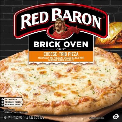 Red Baron Brick Oven Cheese Trio Frozen Pizza - 17.82oz