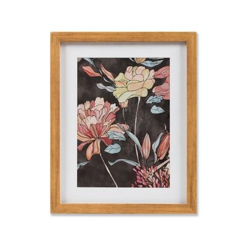 Framed Floral Wall Print Blackorange 11x14 2pk Threshold Target