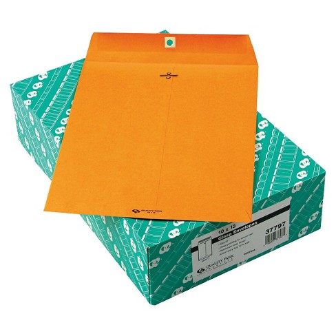 Quality Park Clasp Envelope - Brown (100 Per Box) - image 1 of 1