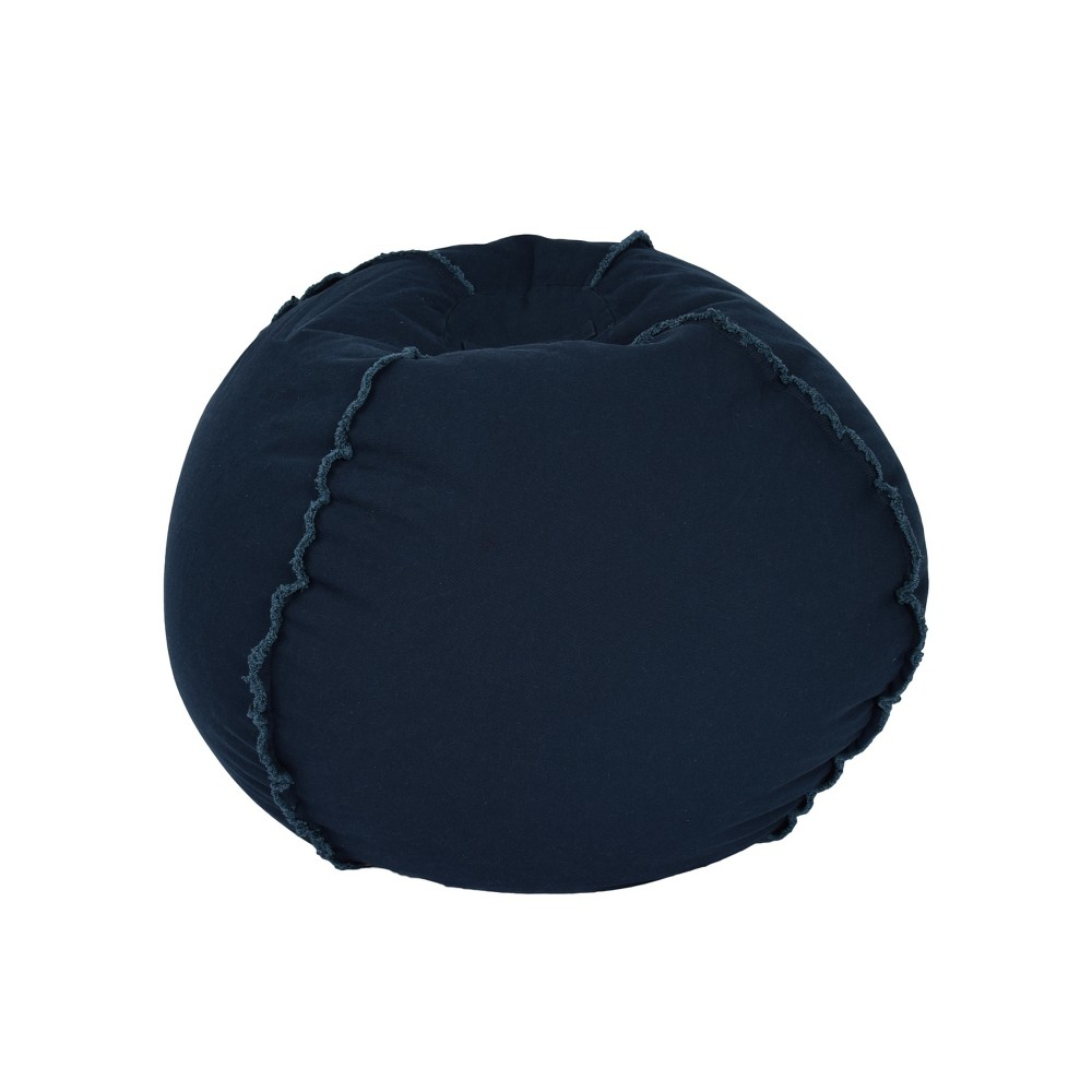 Image of Bean Bag Chair - Dark Blue - Reservation Seating