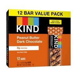 Kind® Peanut Butter Dark Chocolate + Protein Nutrition Bars - 12ct
