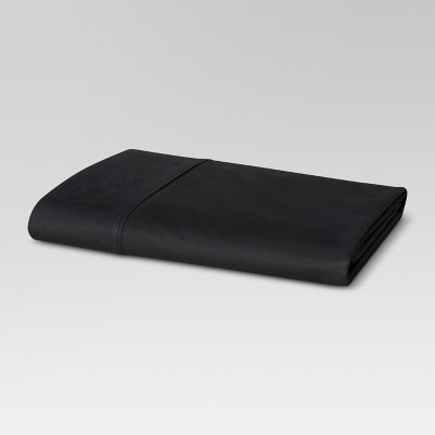 300 Thread Count Ultra Soft Flat Sheet - Black (Queen)- Threshold™