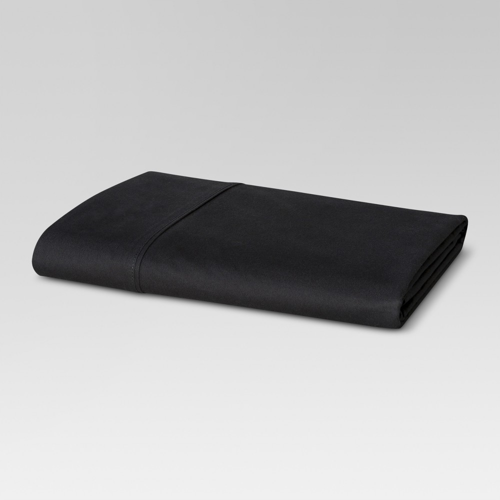 Image of 300 Thread Count Ultra Soft Flat Sheet - Black (Queen) - Threshold