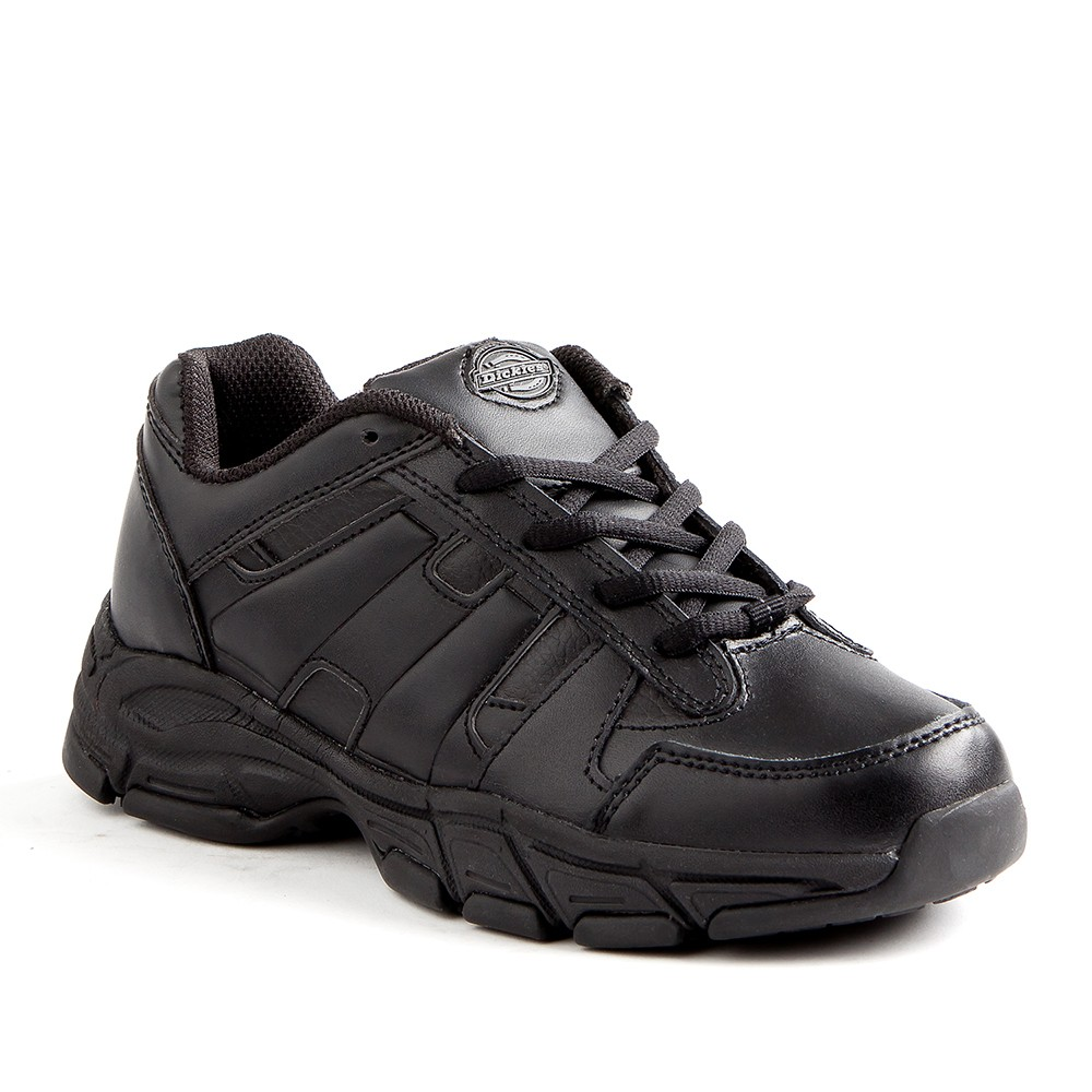 Men's Dickies Athletic Lace Genuine Leather Slip Resistant Sneakers - Black 13