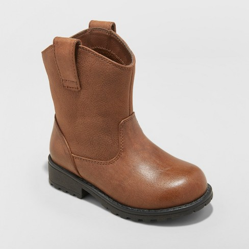 Toddler Boys' Hunter Western Boots - Cat & Jack™ Brown - image 1 of 3