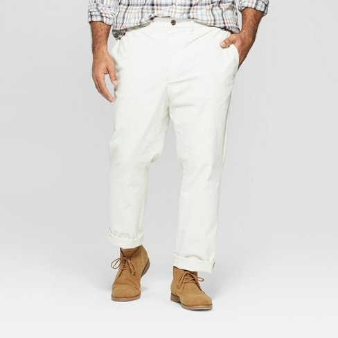 Men's Big & Tall Hennepin Slim Fit Chino Pants - Goodfellow & Co™ White - image 1 of 3