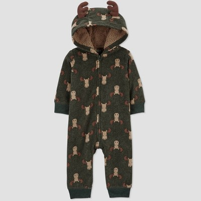 Baby Boys' Moose Rompers - Just One You® made by carter's Olive Green 3M