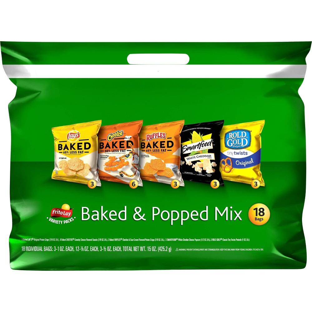Frito-Lay Variety Pack Baked & Popped Mix- 18ct