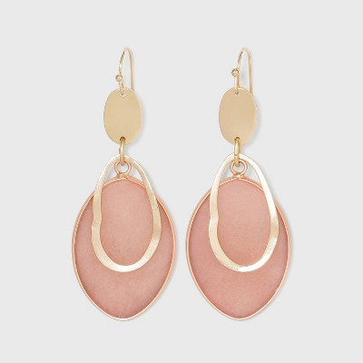 Semi-Precious Wavy Cutout Drop Earrings - Universal Thread™