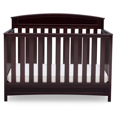 Delta Children Sutton 4-in-1 Convertible Crib, Greenguard Gold Certified - Espresso Java