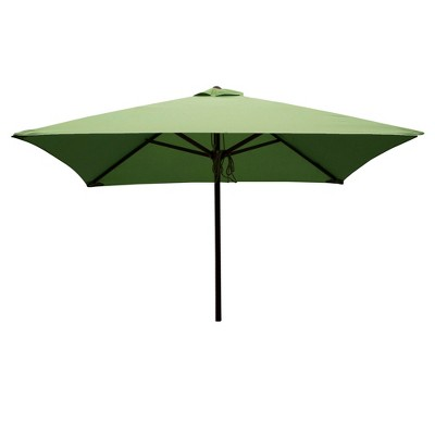 Classic Wood 6.5u0027 Square Patio Umbrella  Lime   Parasol