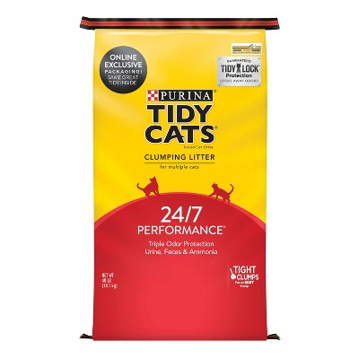 Purina Tidy Cats 24/7 Performance Clumping Cat Litter for Multiple Cats - 40lbs