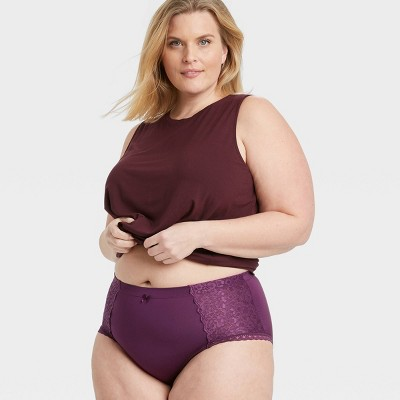 Women's Plus Size Lace Briefs - Auden™